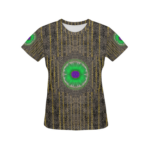 in the stars and pearls is a flower All Over Print T-Shirt for Women (USA Size) (Model T40)