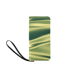 Green satin 3D texture Women's Clutch Purse (Model 1637)