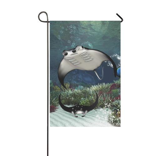 Awesme manta Garden Flag 12''x18''(Without Flagpole)