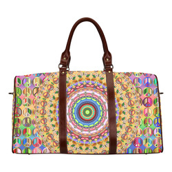 Peace Mandala Waterproof Travel Bag/Large (Model 1639)