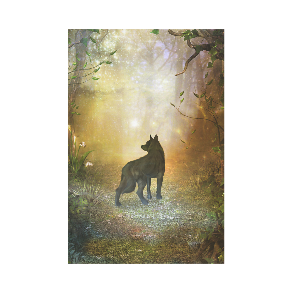 Teh lonely wolf Garden Flag 12''x18''(Without Flagpole)