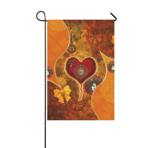 Steampunk decorative heart Garden Flag 12''x18''(Without Flagpole)