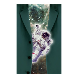 """Astronaut looks out of a jacket Poster 23""""x36"""""""