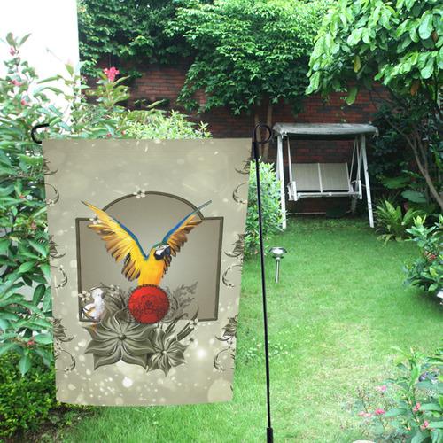 Wonderful parrot Garden Flag 12''x18''(Without Flagpole)