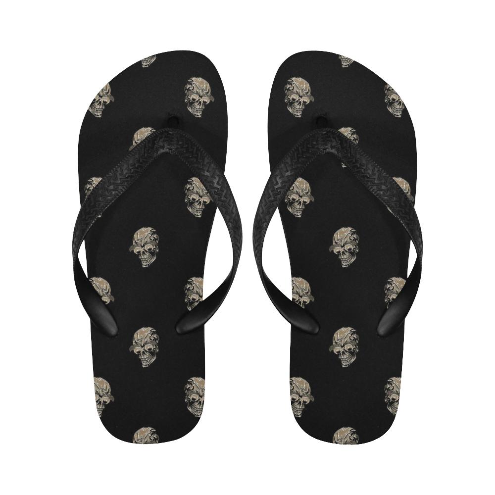 sparkling skulls C by JamColors Flip Flops for Men/Women (Model 040)