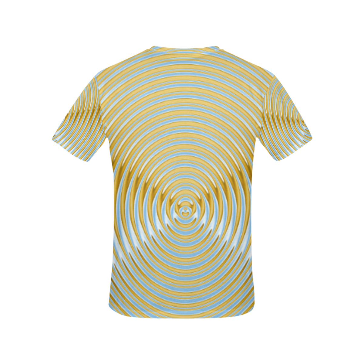 Gold Blue Rings All Over Print T-Shirt for Women (USA Size) (Model T40)