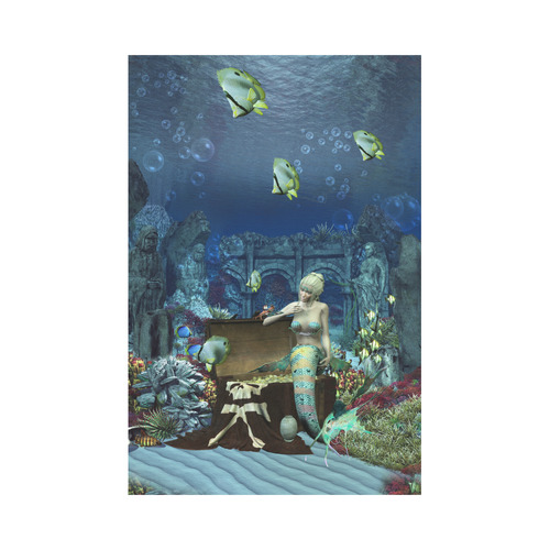 Underwater wold with mermaid Garden Flag 12''x18''(Without Flagpole)