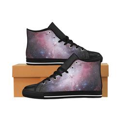 Eagle Nebula Aquila High Top Microfiber Leather Men's Shoes (Model 027)