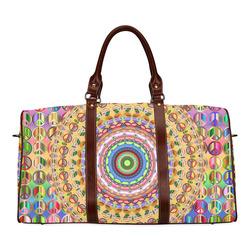 Peace Mandala Waterproof Travel Bag/Small (Model 1639)