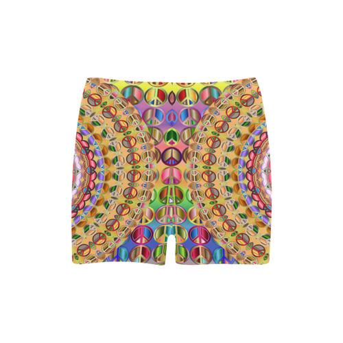 Peace Mandala Briseis Skinny Shorts (Model L04)