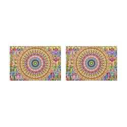 Peace Mandala Placemat 12'' x 18'' (Two Pieces)