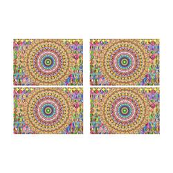 Peace Mandala Placemat 12'' x 18'' (Four Pieces)