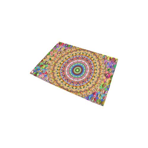 """Peace Mandala Area Rug 2'7""""x 1'8''"""