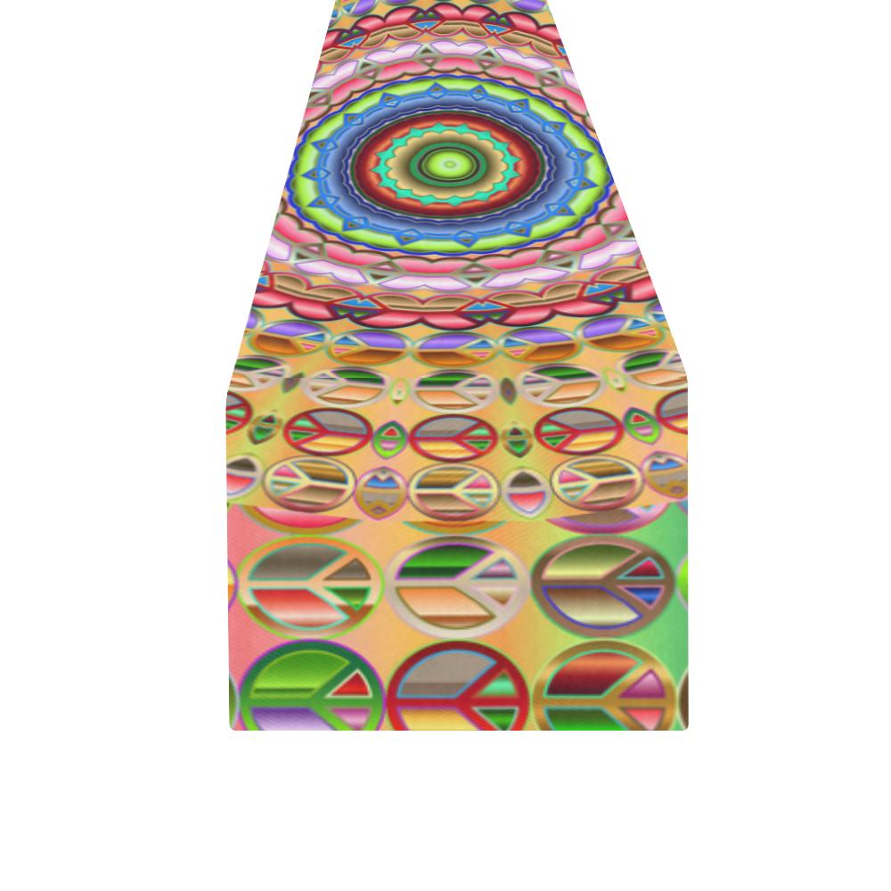 Peace Mandala Table Runner 16x72 inch