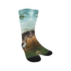 Wonderful running horse Trouser Socks