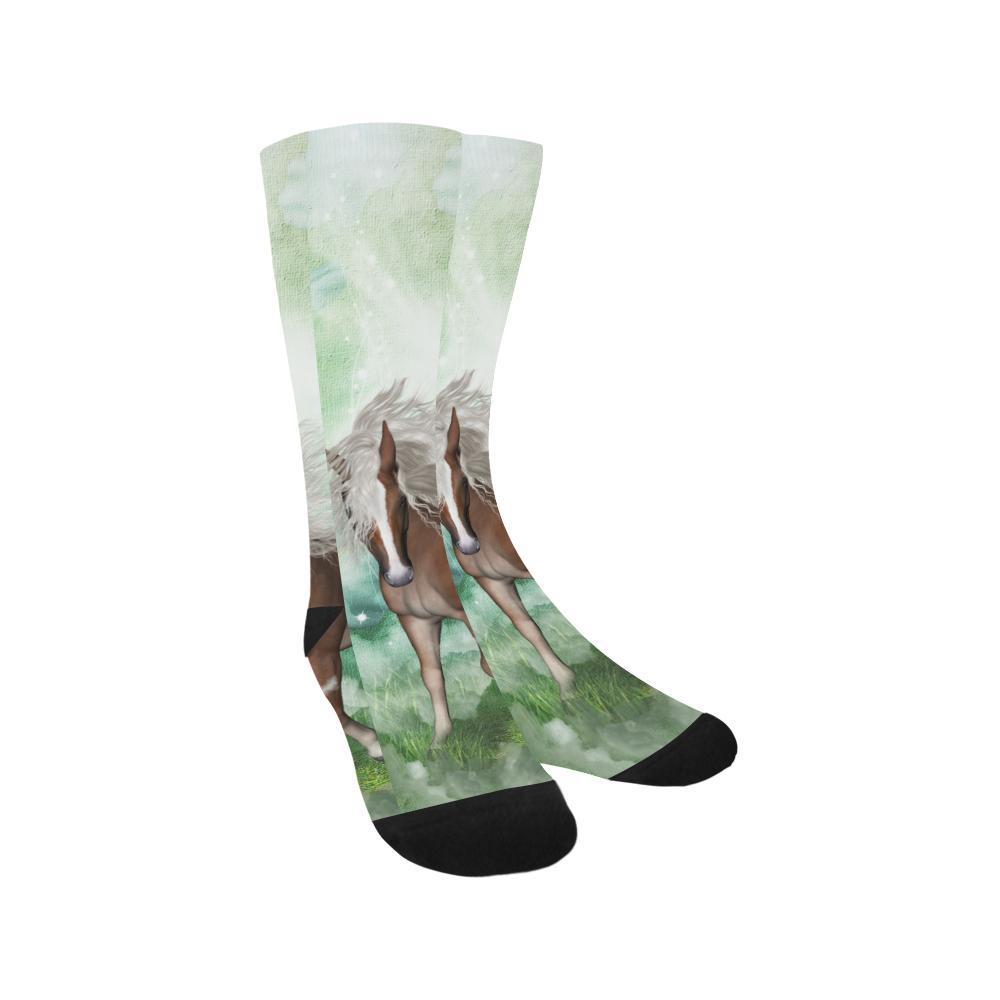 Horse in a fantasy world Trouser Socks