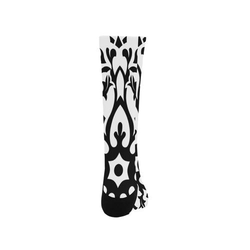Artistic knee socks : white black Trouser Socks