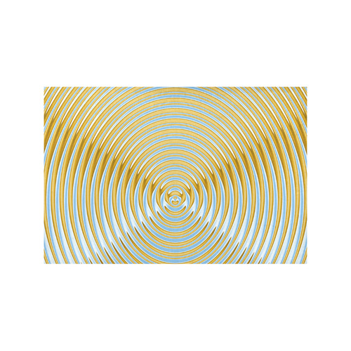 Gold Blue Rings Placemat 12'' x 18'' (Two Pieces)