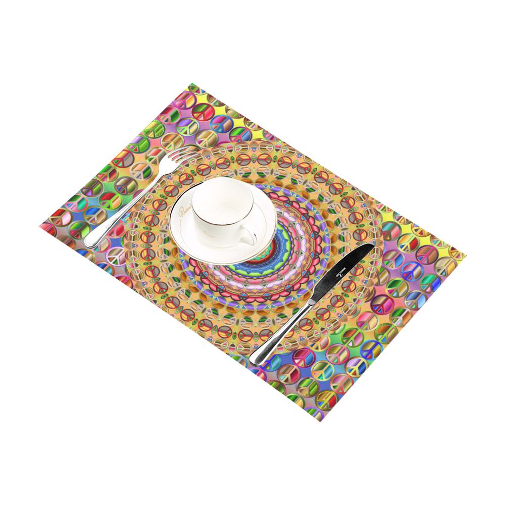 Peace Mandala Placemat 12'' x 18'' (Two Pieces)
