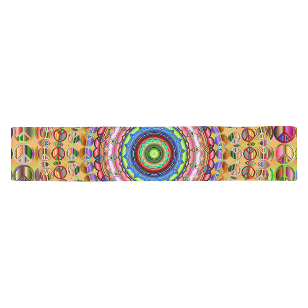 Peace Mandala Table Runner 14x72 inch