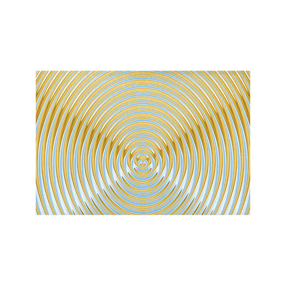 Gold Blue Rings Placemat 12'' x 18'' (Four Pieces)