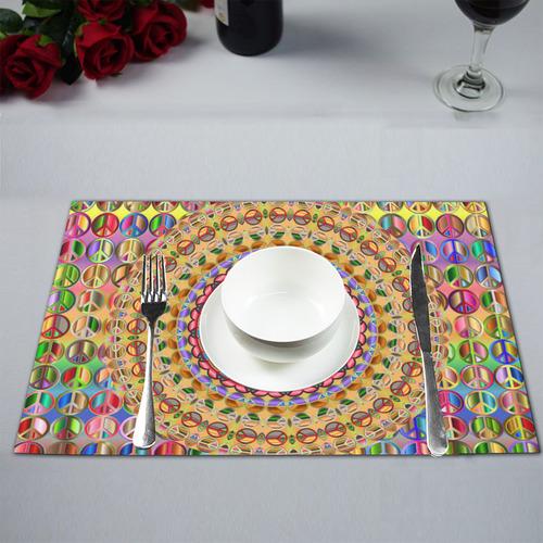 Peace Mandala Placemat 12'' x 18'' (Six Pieces)