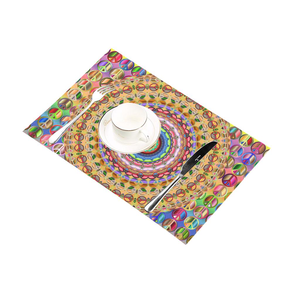 Peace Mandala Placemat 12''x18''
