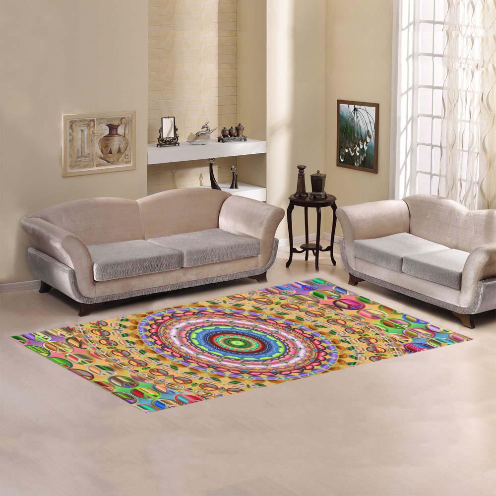 Peace Mandala Area Rug 7'x3'3''