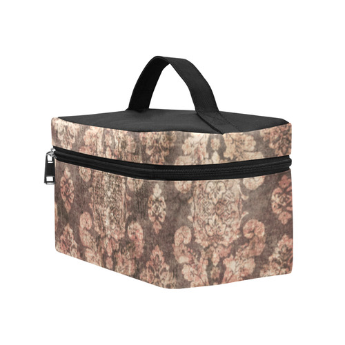 Grunge Gold Distressed Linen Steampunk Print Lunch Bag/Large (Model 1658)