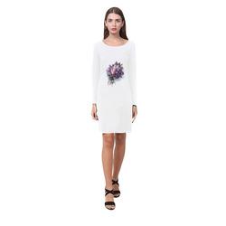 Vintage Lilac Bouquet Demeter Long Sleeve Nightdress (Model D03)