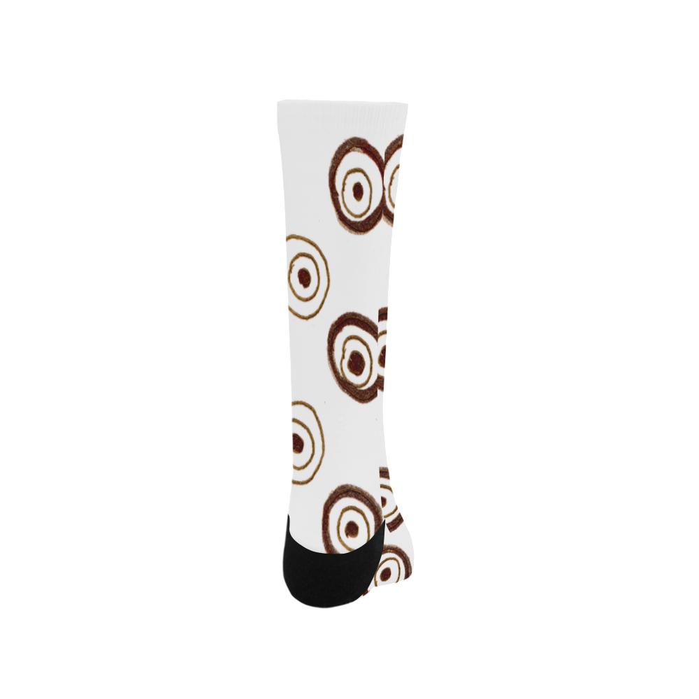 Designers Socks : brown vintage Circles Trouser Socks