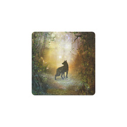 Teh lonely wolf Square Coaster