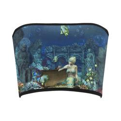 Underwater wold with mermaid Bandeau Top