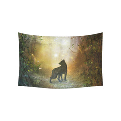 "Teh lonely wolf Cotton Linen Wall Tapestry 60""x 40"""