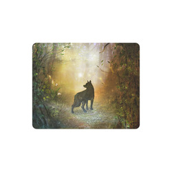 Teh lonely wolf Rectangle Mousepad