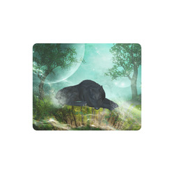 Sleeping wolf in the night Rectangle Mousepad