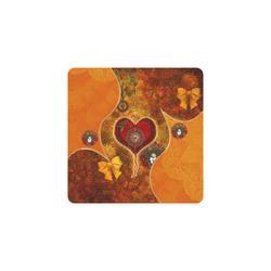 Steampunk decorative heart Square Coaster