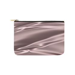 Lilac satin 3D texture Carry-All Pouch 9.5''x6''