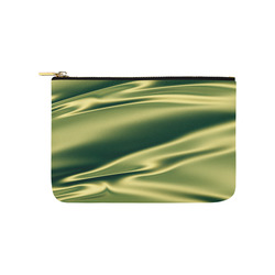 Green satin 3D texture Carry-All Pouch 9.5''x6''