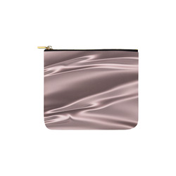 Lilac satin 3D texture Carry-All Pouch 6''x5''