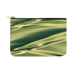 Green satin 3D texture Carry-All Pouch 12.5''x8.5''