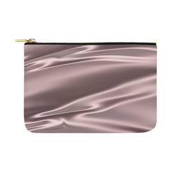 Lilac satin 3D texture Carry-All Pouch 12.5''x8.5''