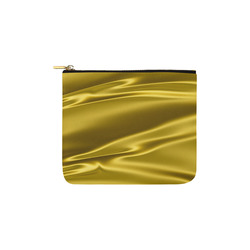 Gold satin 3D texture Carry-All Pouch 6''x5''
