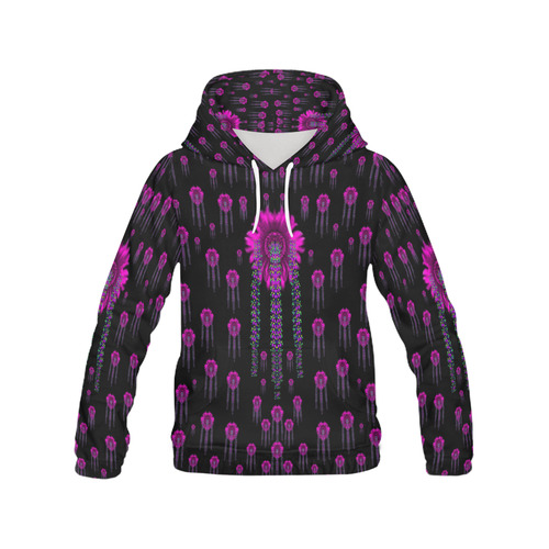 Jungle Flowers All Over Print Hoodie for Women (USA Size) (Model H13)