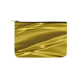 Gold satin 3D texture Carry-All Pouch 9.5''x6''