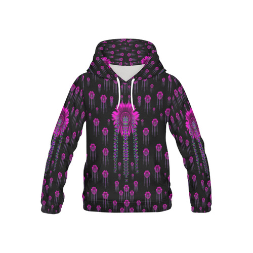 Jungle Flowers All Over Print Hoodie for Kid (USA Size) (Model H13)