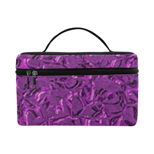 Sparkling Metal Art F by FeelGood Cosmetic Bag/Large (Model 1658)