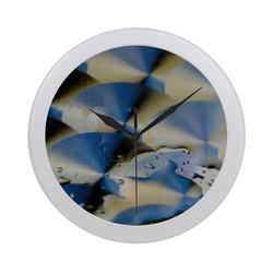 Burnished Surface Circular Plastic Wall clock