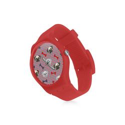 Patriotic Pugs Round Plastic Watch(Model 304)