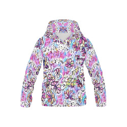 Jolly Floral C by FeelGood All Over Print Hoodie for Kid (USA Size) (Model H13)